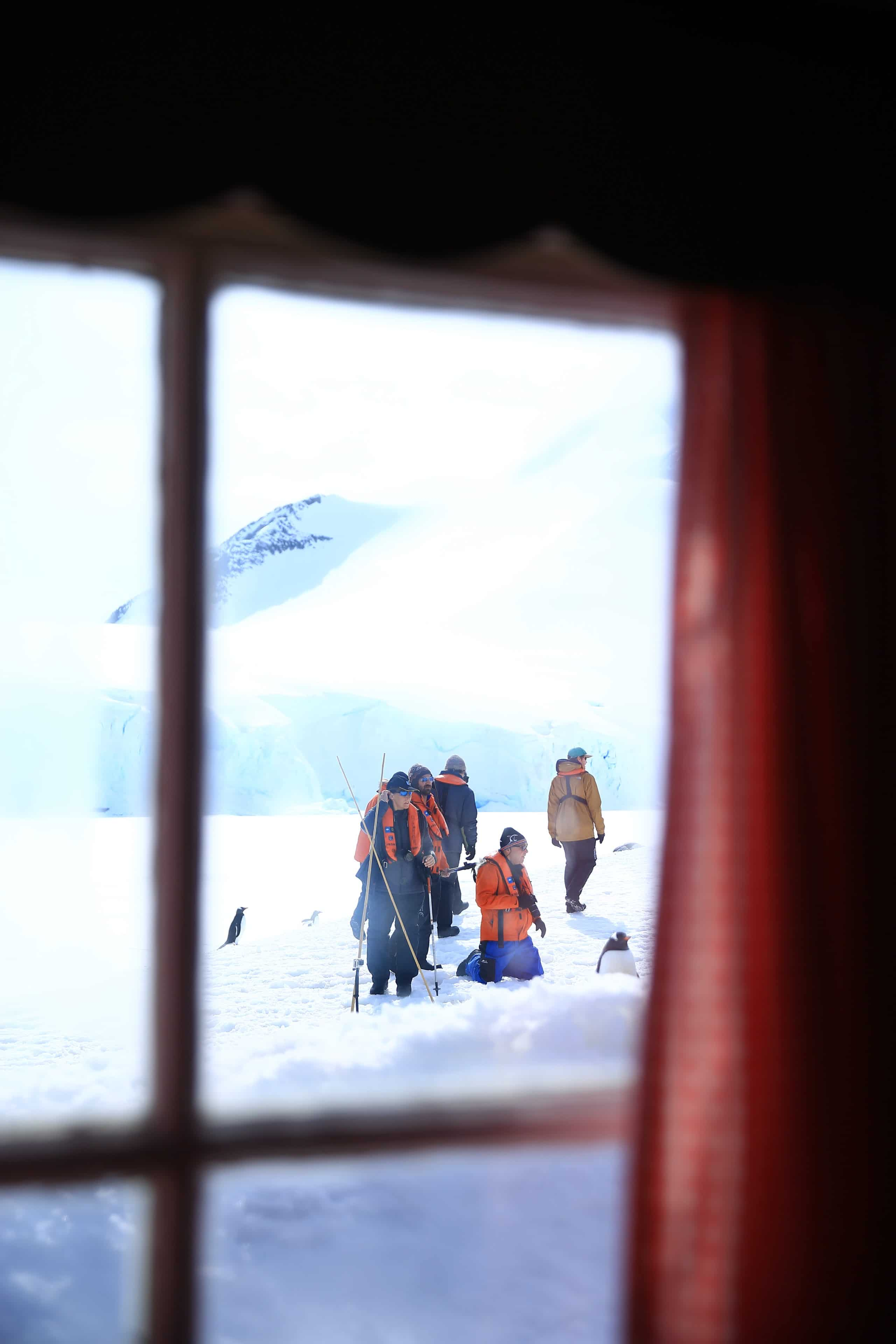 From inside the post office at Port Lockroy