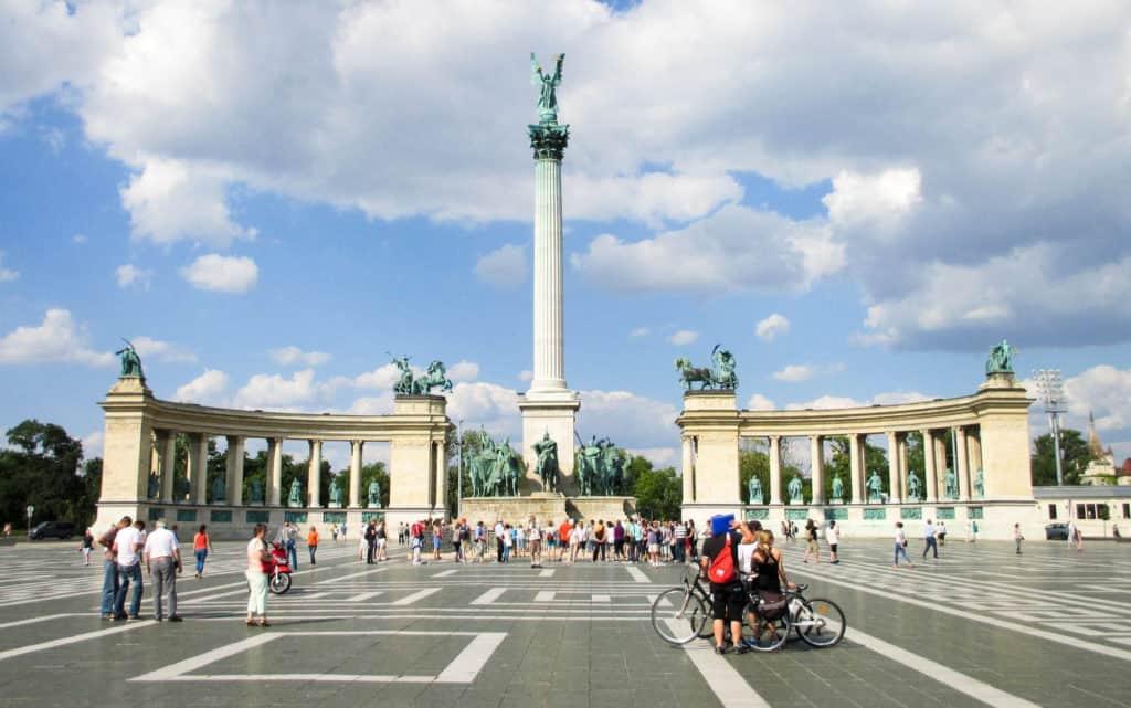 Budapest's impressive Heroes' Square . Photo: Pixabay