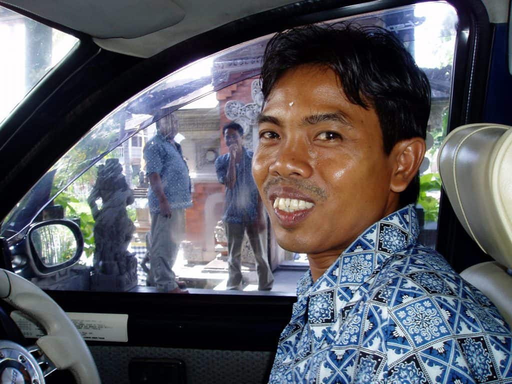 A driver in Ubud.