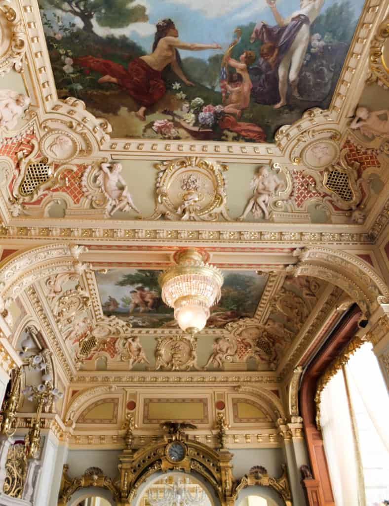 The frescoes on the ceiling date back to the mid-1800s.