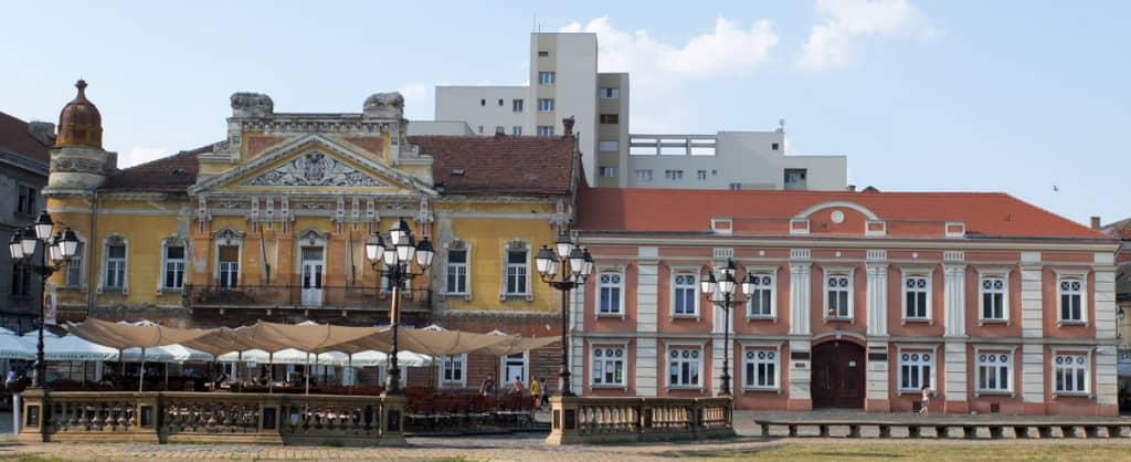 Piata Unirii in downtown Timisoara.