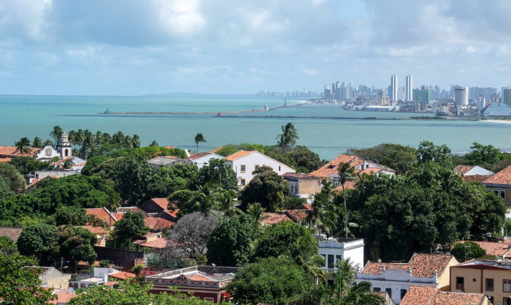 Recife viewed from the historic town of Olinda.