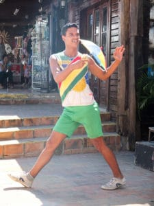 A frevo dancer.