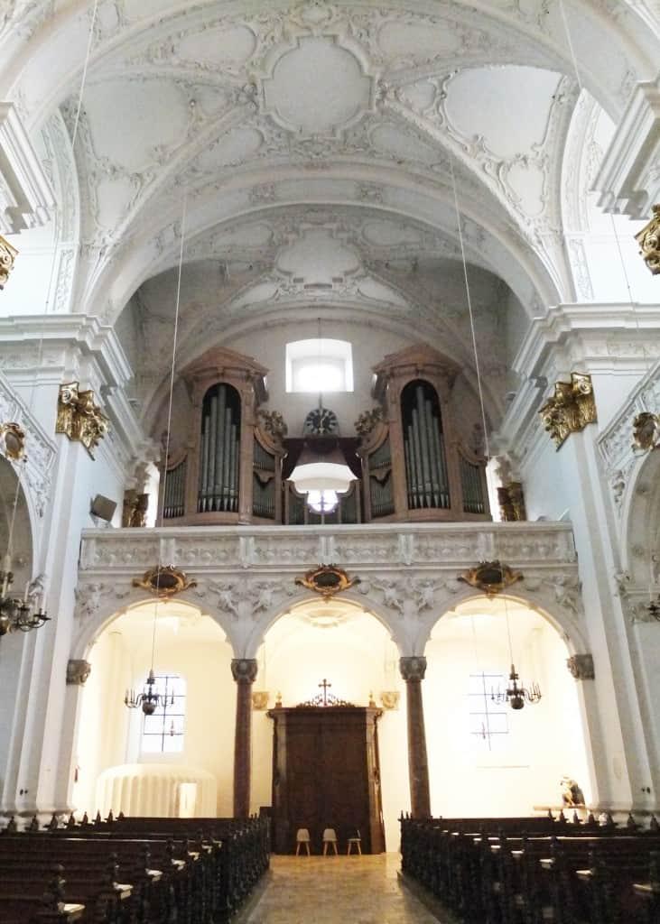 Anton Bruckner's organ (up top).