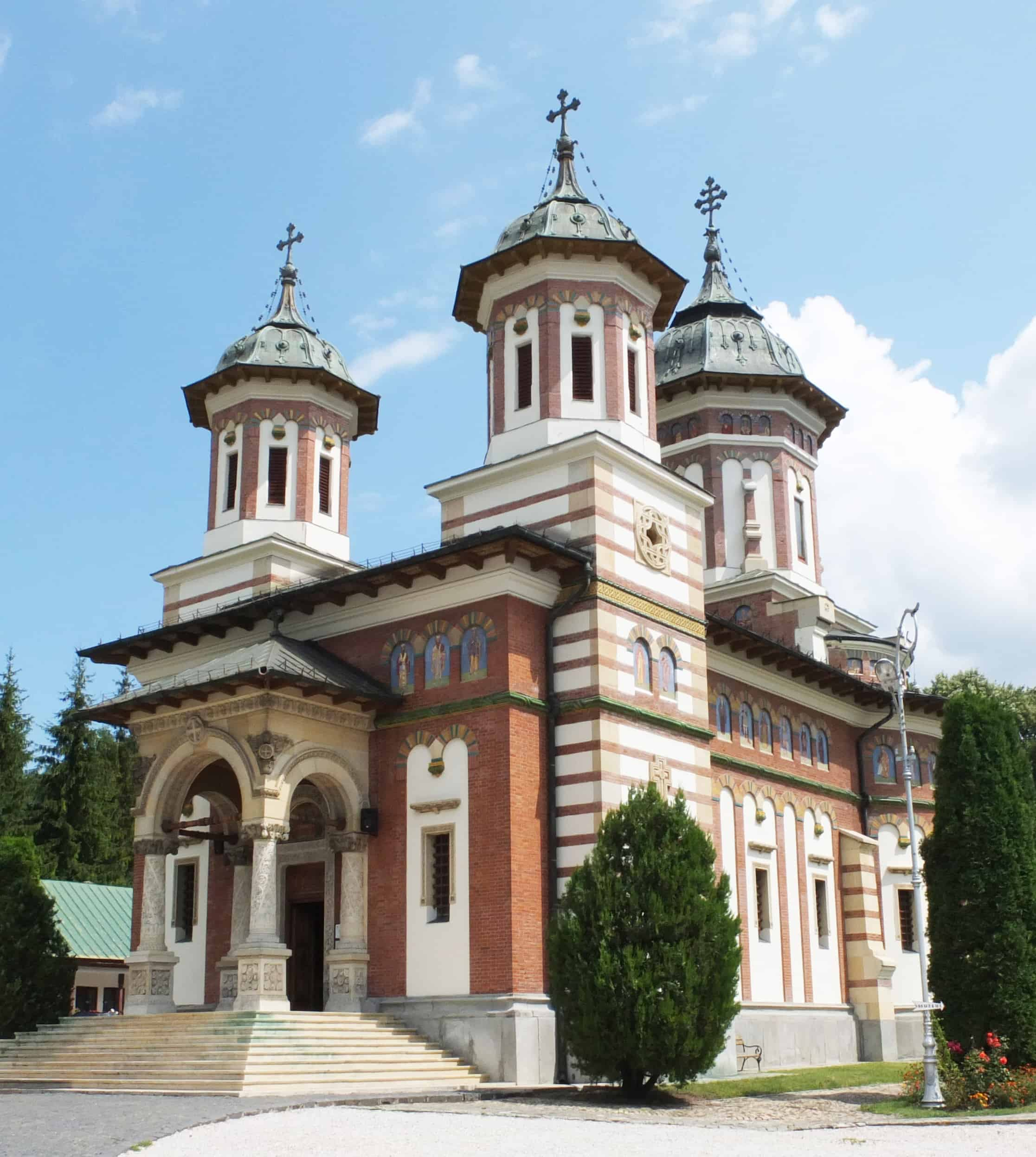 The monastery at Sinaia is one of the prettiest in Romania.