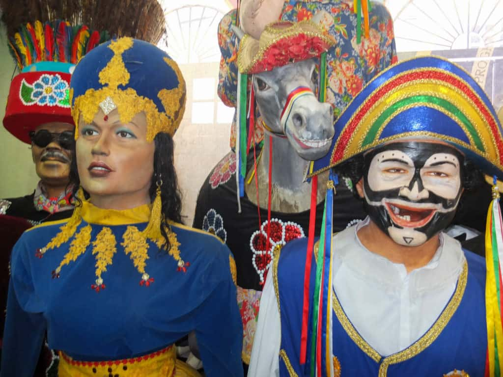 The giant figures of Carnival on display.