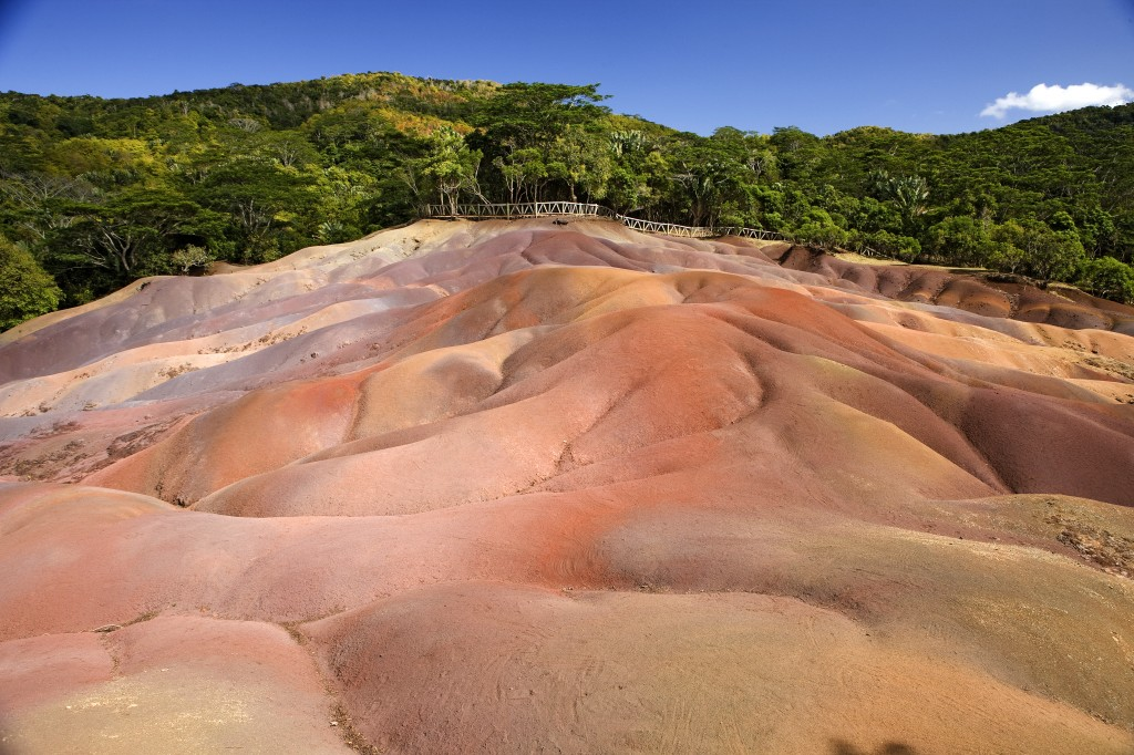 Seventh heaven ... the Seven Coloured Earths at Chamarel.