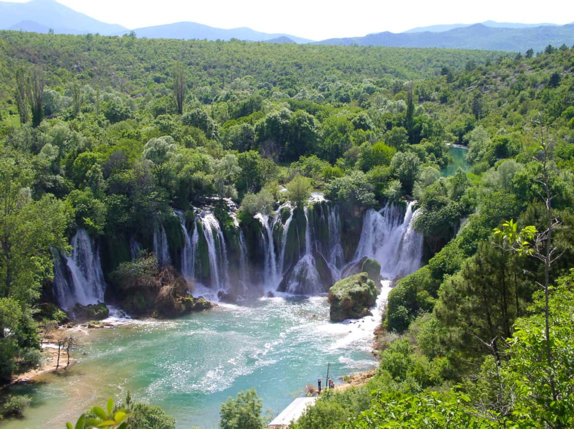Waterfalls at Kravica on the Trebižat River.