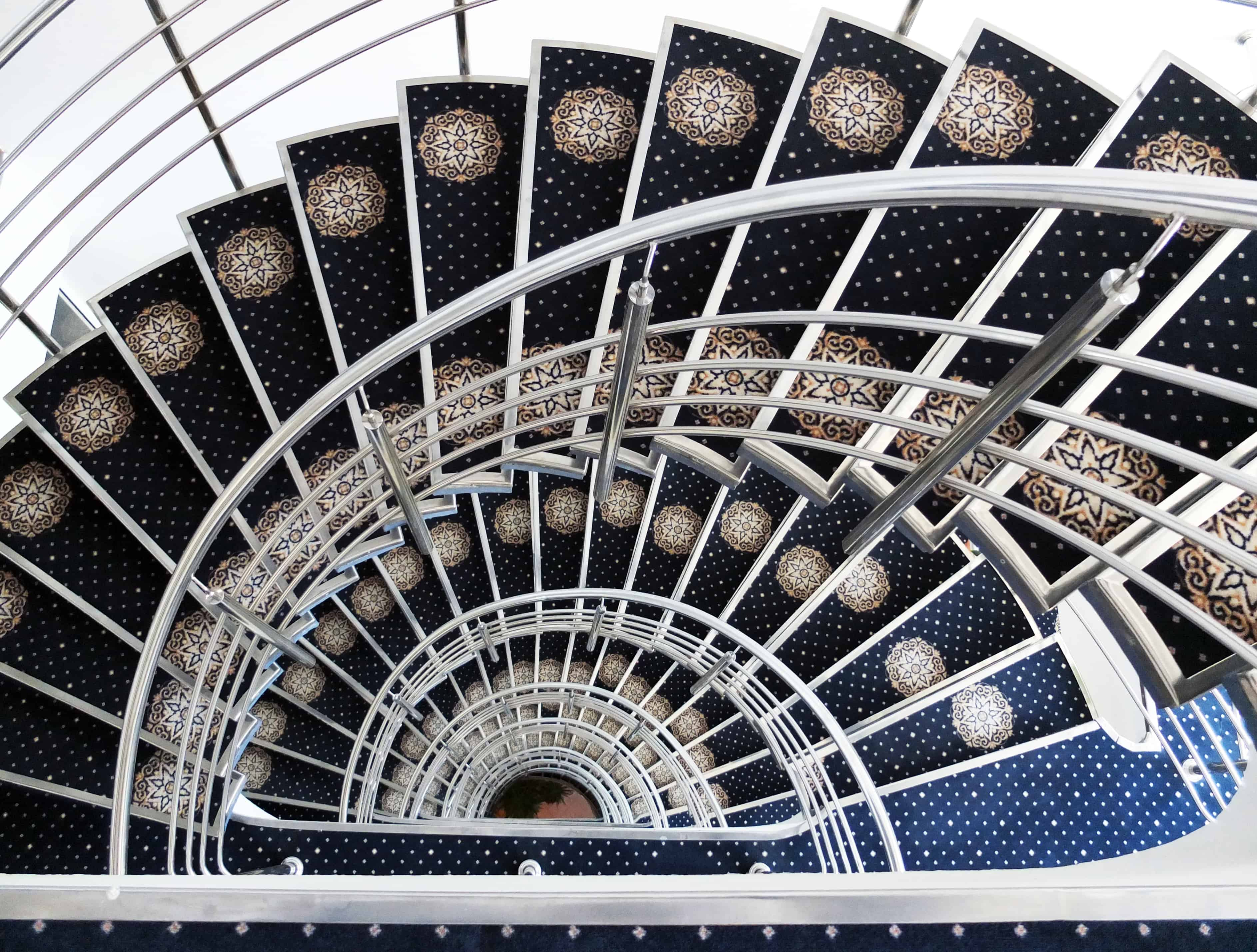 An exotic hotel staircase.